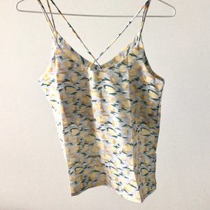 Yellow Abstract Pattern Camisole